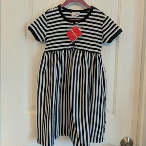 New Hanna Andersson Striped Dress 120